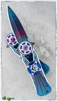 Colorful Dagger Spinner Knife