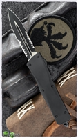 Vintage Microtech Troodon D/E Serrated Black Blade Smooth Body Tactical