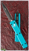 Microtech Ultratech D/E 122-1TQ Black Blade Turquoise Handle