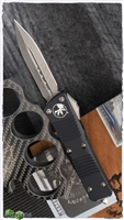 Microtech Troodon D/E 138-10AP Apocalyptic Blade Black Handle