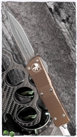 Microtech Troodon D/E 138-10APTA AP Blade Tan Handle
