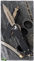 Microtech Troodon D/E 138-13AP Bronze AP Blade Black Handle