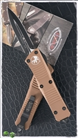 Microtech Troodon D/E 138-1TA Black Blade Tan Handle
