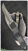 Microtech Combat Troodon 219-13 Hell Hound Bronzed SW Blade CF Top Handle