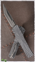 Brian Tighe & Friends Twist Tighe D/A OTF Tanto DLC Blade and Hardware Charcoal Handle