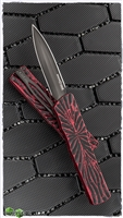 Brian Tighe & Friends Small Twist Tighe D/A OTF D/E Double Edge DLC Distressed Red Handle