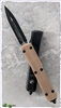 Microtech Ultratech D/E 122-1GTTA Black Blade Tan G10 Handle Top
