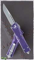 Microtech Troodon S/E 139-10DPU Stonewash Blade Distressed Purple Handle