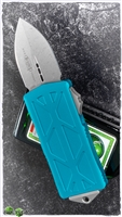 Microtech Exocet 157-10APTQ Apocalyptic Blade Turquoise Body