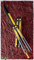 Microtech Tachyon III Balisong Knife Black & Yellow (Batman)