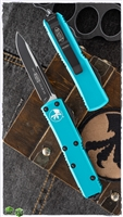 Microtech UTX-85 S/E Black Blade Turquoise Handle