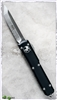 Microtech Ultratech D/A OTF T/E 123-5 Satin Silver Blade Black Handle