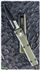 Microtech Ultratech Bayonet 120-2OD Green Handle Black Serrated Blade