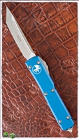 Microtech Ultratech T/E 123-4BL Satin Blade Blue Handle