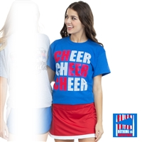 Red White Cheer Tee