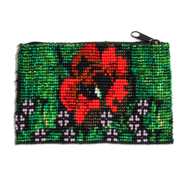 Rose Coin Purse - #213 Red