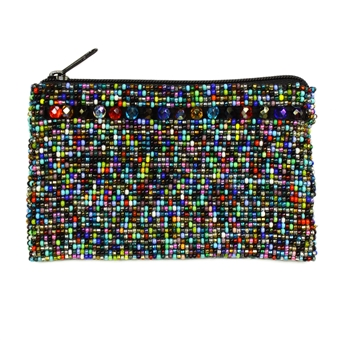 Coin Purse with Crystals - #101 Multi