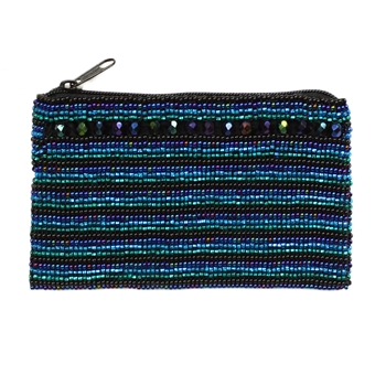 Coin Purse with Crystals - #108 Blue