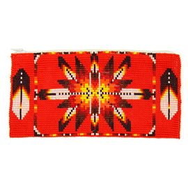 Long Starburst Coin Purse - #213 Red