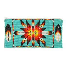 Long Starburst Coin Purse - #231 Turquoise