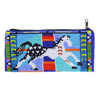 Long Carousel Horse Coin Purse