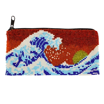 Long Wave Coin Purse - #110 Red
