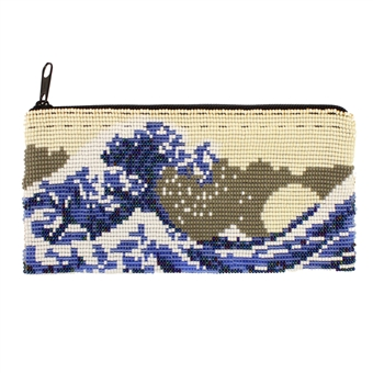 Long Wave Coin Purse - #114 Pearl