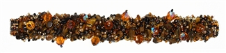 Fuzzy Bracelet with Stones - #103 Earth, Double Magnetic Clasp!