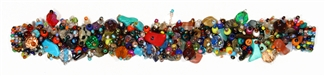 Fuzzy Bracelet with Stones - #267 Multi 34/0, Double Magnetic Clasp!