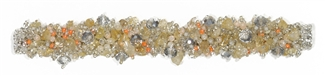 Fuzzy Bracelet with Stones - #281 Citrine, Peach, White, Double Magnetic Clasp!