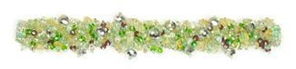 Fuzzy Bracelet with Stones - #437 Purple, Lime, Citrine, Double Magnetic Clasp!