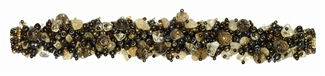 "Fuzzy Bracelet with Stones, Small 6.5"" - #236 Brown Iris, Citrine, Double Magnetic Clasp!"