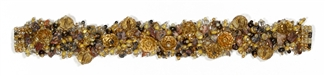 "Fuzzy Bracelet with Stones, Large 7.75"" - #113 Sand, Double Magnetic Clasp!"