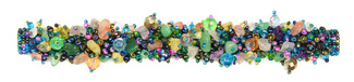"Fuzzy Bracelet with Stones, Large 7.75"" - #176 Blue Multi, Double Magnetic Clasp!"