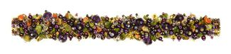 "Fuzzy Bracelet with Stones, Large 7.75"" - #500 Purple and Unakite, Double Magnetic Clasp!"