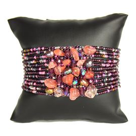 Gem Cluster Bracelet - #253 Purple Rose