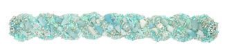 Braided with Gems Bracelet - #162 Mint, Double Magnetic Clasp!