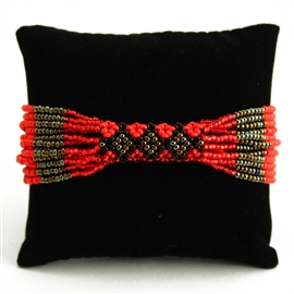 Zulu Bracelet - #403 Bronze and Red, Magnetic Clasp!