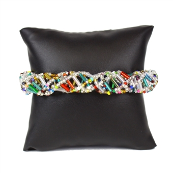 DNA Bracelet - #150 Crystal and Multi, Magnetic Clasp!