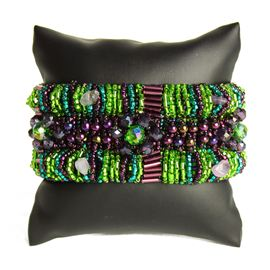 Bugle Delight - #105 Purple and Green, Double Magnetic  Clasp!