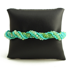 Crystal Rope Bracelet - #134 Turquoise and Lime, Magnetic Clasp!