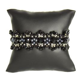 Crystalicious Bracelet - #102 Black and Crystal, Double Magnetic Clasp!