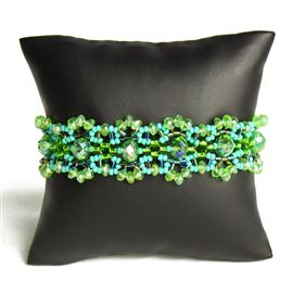 Crystalicious Bracelet - #134 Turquoise and Lime, Double Magnetic Clasp!