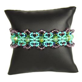 Crystalicious Bracelet - #137 Turquoise and Purple, Double Magnetic Clasp!