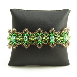 Crystalicious Bracelet - #260 Bronze and Green, Double Magnetic Clasp!