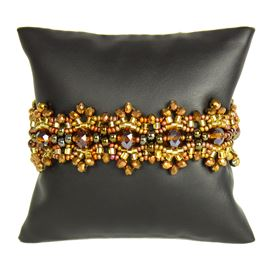 Crystalicious Bracelet - #353 Bronze and Gold, Double Magnetic Clasp!