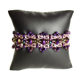 Crystalicious Bracelet - #539 Purple and Lavender, Double Magnetic Clasp!