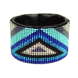 Triangle Cuff - #140 Turquoise and Blue