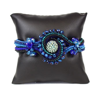Crystal Knot Bracelet - #108 Blue, Double Magnetic Clasp!