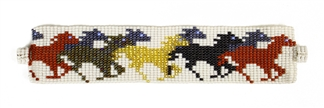 Horse Bracelet - #114 White, Magnetic Clasp!